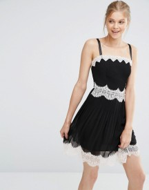 Oasis Lace Trim Cami Mini Dress afbeelding