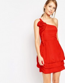 Oasis Ruffle One Shoulder Dress afbeelding