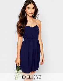 Tfnc Wedding Bandeau Chiffon Mini Dress afbeelding