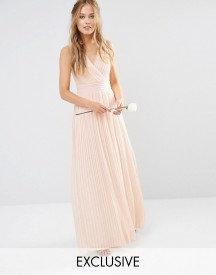 Tfnc Wedding Pleated Wrap Maxi Dress afbeelding