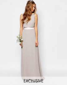 Tfnc Wedding Sateen Bow Back Maxi Dress afbeelding