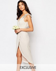 Tfnc Wedding Wrap Embellished Midi Dress afbeelding