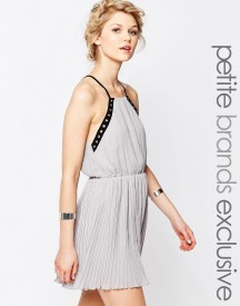 True Decadence Petite Eyelet Trim Chiffon Cami Dress afbeelding
