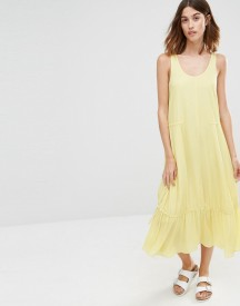 Warehouse Tiered Midi Dress afbeelding