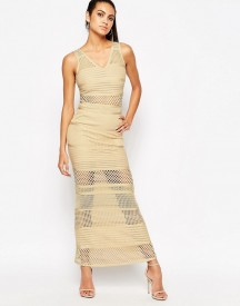 Wow Couture Bandage Dress With Mesh Inserts afbeelding