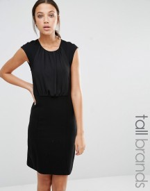 Y.a.s Tall Faith Pencil Dress With Chiffon Panel Detail afbeelding