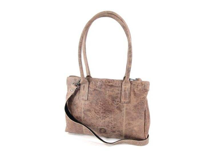 Image Leather Design 3 Vaks Damestas Schoudertas Grijs Taupe