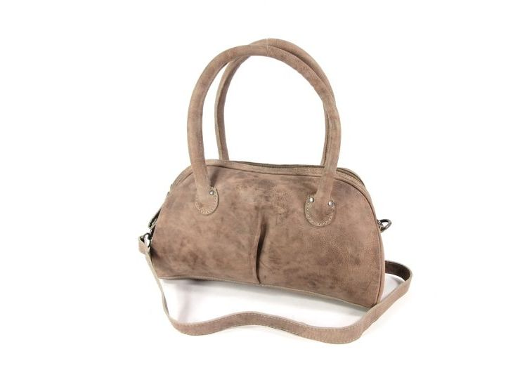Image Leather Design Trendy Damestas Schoudertas Grijs Taupe