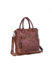 Chesterfield Lleren Shopper Romy Cow Wash Wax Vint Cognac afbeelding