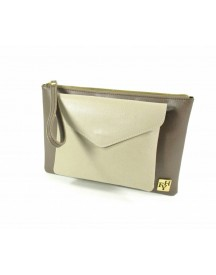 Fvh Alessia Clutch Taupe Met Lever afbeelding