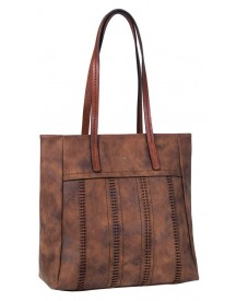 Tom Tailor Damestas Schoudertas Sara Shopper Cognac afbeelding