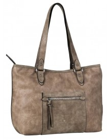 Tom Tailor Damestas Schoudertas Shopper Miria Taupe afbeelding