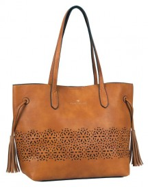 Tom Tailor Damestas Shopper Schoudertas Lorna Cognac afbeelding
