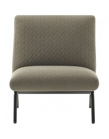 I-sofa Lily Fauteuil - Bruin / Grijs afbeelding