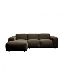 Modern Earth Nora Bank Hoekbank Links Chaise Longue + 2-zits Stof Copparo - Bruin afbeelding