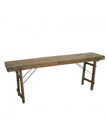 One World Interiors Console Eettafel Hout 170 X 76 Cm - Bruin afbeelding
