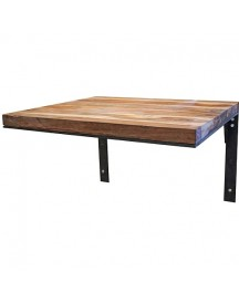 One World Interiors Tafel Hangend Acaciahout - 70 X 60 Cm afbeelding