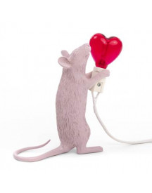 Seletti Mouse Lampresin Heart afbeelding