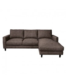 Vestbjerg Hidra Bank 3-zits Met Chaise Longue Links - Antraciet afbeelding