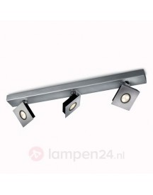 Ludo - Beweegbare Led-spot 3-lichts, Aluminium afbeelding
