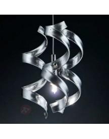 Smalle Hanglamp Silver, 1-lichts afbeelding