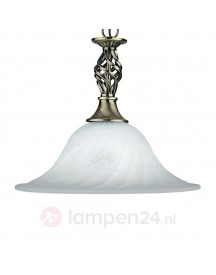 Oud-messing Hanglamp Cameroon, 1-lichts afbeelding